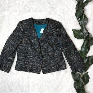 NWT Ann Taylor Tweed Style Plus Size Blazer